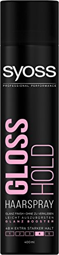 Syoss Haarspray Gloss Hold, Haltegrad 4, extra stark, 6er Pack (6 x 400 ml)