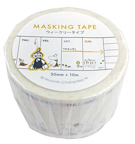デルフィーノ マスキングテープ </br></noscript>ウィークリータイプ ムーミン みんな MOO-36016