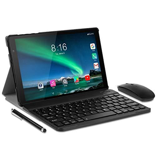 Tablet 10 Pollici con wifi offerte - TOSCIDO Android 10.0,Octa Core,1920x1200 HD IPS,64G ROM,4GB di RAM,13MP e 5MP Camera,5G WiFi Tablet/Bluetooth/GPS,Includere Tastiera,Mouse,Cover - Nero