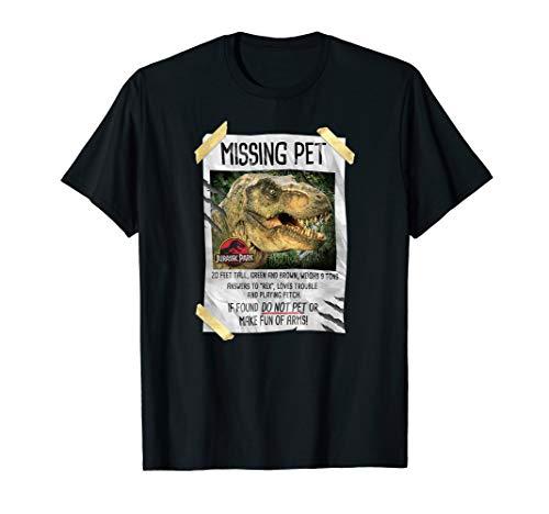 Jurassic Park Missing Pet T-Rex Poster Humor T-Shirt
