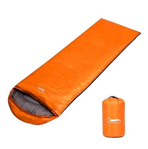 T-out Primavera y otoño Saco de Dormir Individual, Bolso de Dormir para Adultos al Aire Libre Ultra Light Almuerzo Descanso Camping Saco de Dormir de Camping,Orange