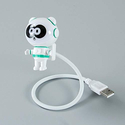 LED Mini Astronaut Night Light Carga USB Kid Baby Room Decoración Lámpara de noche Astronaut Desktop Computadora Lámpara de mesa Gift-A_