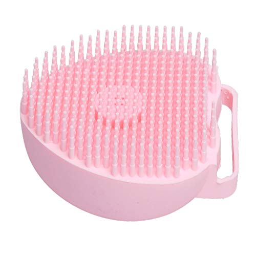 Pet Grooming Silicone Spa Shampoo Massage Brush Shower Hair Removal Comb for Dogs Cats Cleaning Grooming Tool Yellow