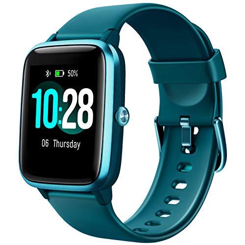 Letsfit Smartwatch, 1.3 Zoll Touchscreen Fitness Armbanduhr, Fitness Tracker mit Pulsuhr, IP68 Wasserdicht Sportuhr mit Schrittzähler Schlafmonitor, Smart Watch für Damen Herren für Android iOS