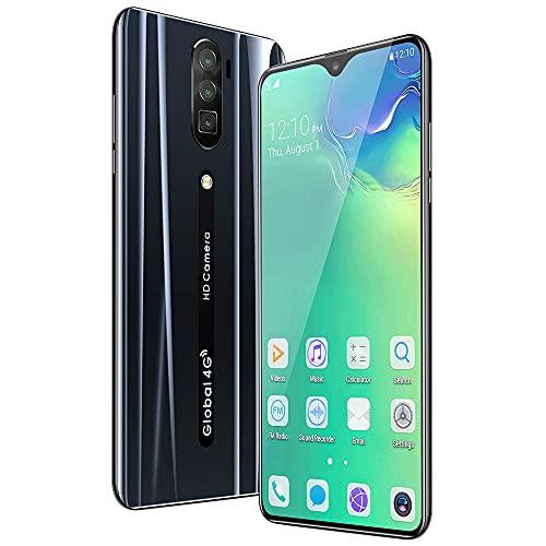 DREAMyun Smartphone 4G Dual SIM, 6.3' HD Screen Smartphone Barato, 6GB+ 128GB, Android 10, 4800mAh, Cámara Triple 18MP+8MP, Face ID,Negro