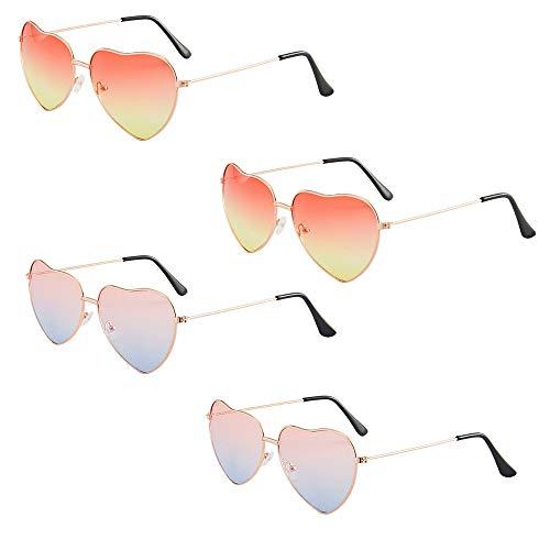 retro vintage metallo rotondo donne cornice a forma di cuore rosa stile a forma di cuore costume moda forma colorata occhiali montatura in metallo