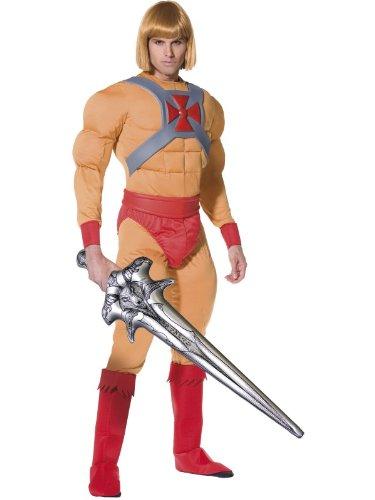 Hij - Man Kostuum en He-Man Blonde Pruik. Afmetingen (L x B x H):