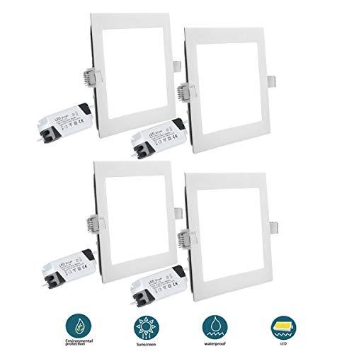 4 stücke 12 watt led deckenleuchte 6500 karat 1080lm ultradünne platz einbau panel licht für wohnzimmer büro werkstatt fabrik