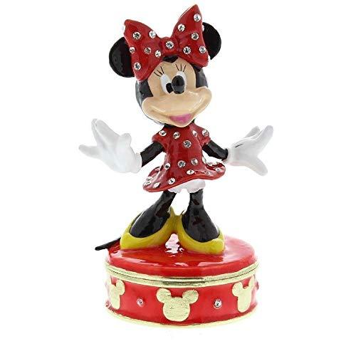 Disney Treasured Trinkets Minnie Mouse Trinket Box Crystals Jewelry Storage DI109