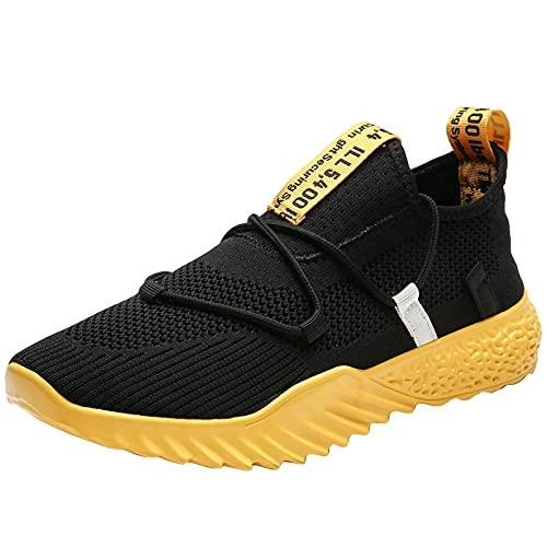 BAOFUBA Herren Laufschuhe Atmungsaktiv Sportschuhe Straßenlaufschuhe Sneaker Joggingschuhe Turnschuhe Sommer Walkingschuhe Traillauf Fitness Schuhe