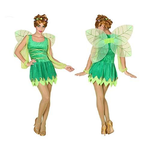 ATOSA disfraz hada verde mujer adulto alas M
