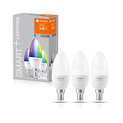 LEDVANCE Ampoule LED | E14 | RGBW | 2700…6500 K | 5W équivalent à 40W | SMART+ WiFi Candle Multicolour