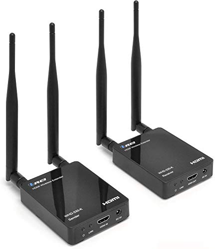 Orei Wireless HDMI Transmitter & Receiver Extender Upto 300 Feet 2.4 Ghz Long Range - Perfect for Streaming from Laptop, PC, Cable, Netflix, YouTube, PS4 to HDTV/Projector IR Support - Low Latency