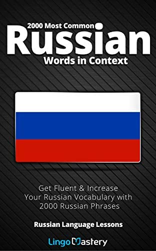 2000 Most Common Russian Words in Context Get Fluent Increase Your Russian Vocabulary with 2000 product image
