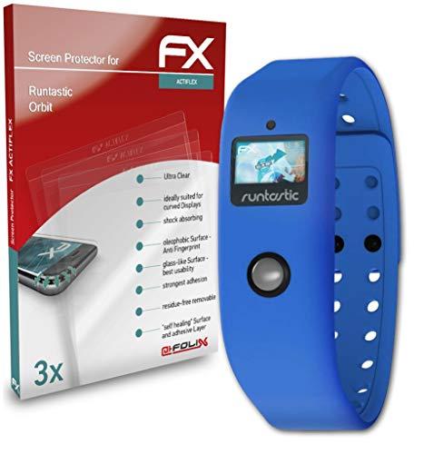 atFoliX Schutzfolie kompatibel mit Runtastic Orbit Folie, ultraklare & Flexible FX Bildschirmschutzfolie (3X)