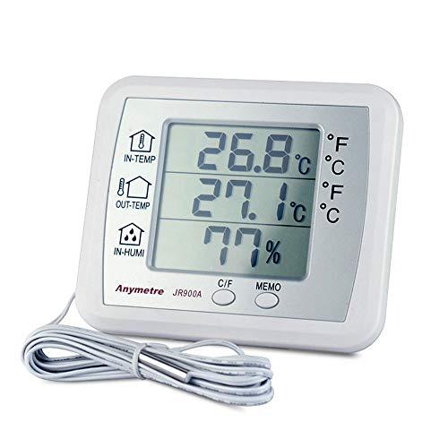 YBZS Termómetro Infrarrojo, Termómetro Electrónico Y El Higrómetro, De Alta Precisión Pantalla Digital Temperatura Ambiente De Laboratorio, Hogar Termómetro Seco Y Húmedo Interior Precisa