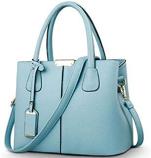 TCSLBP Women PU Leather Bag Solid Messenger Bag Ladies Large Handbag Square Shoulder Bag Bolsas Femininas Sac Fashion Cross Body Bag