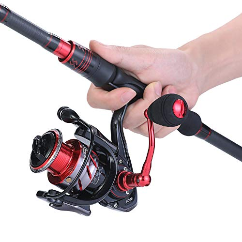 Sougayilang Telescopic Fishing Rod and Reel Combos, Carbon Fiber Telescopic Fishing Rod and Spinning...