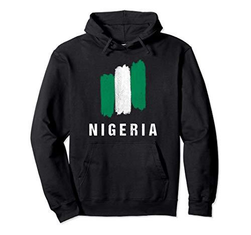 Gemalte Nigeria Fahne / Nigerianische Flagge Fan Geschenk Pullover Hoodie