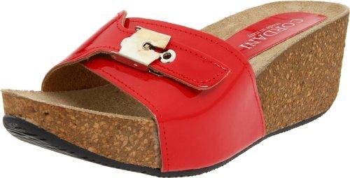 Cordani Women's Aries Wedge Sandal,Red Patent,40 EU/9.5-10 M US
