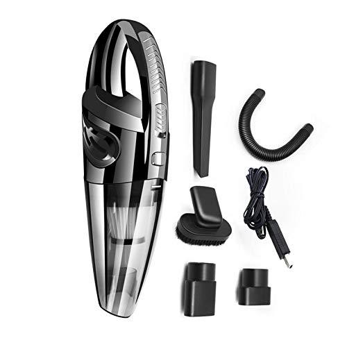 CNmuca Aspirador de pó portátil USB para carro aspirador de pó úmido e seco sem fio para limpeza automática 120W 12V preto portátil