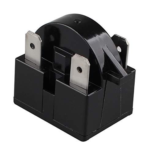 Futheda 15 Ohm Widerstand 3 Pin Kühlschrank Ersatzteile PTC Starter Relais Gefrierschrank Kompressor Starter Kühlschrank Zubehör für Kühlschrank (schwarz)
