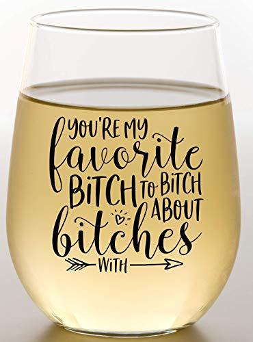 Best Friend Wine Glass With Friendship Saying