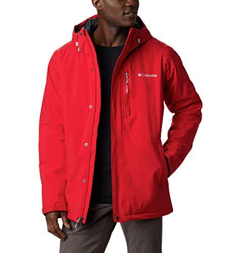 Columbia Winter District Chaqueta De Esquí con Capucha, Hombre, Rojo (Mountain Red), M