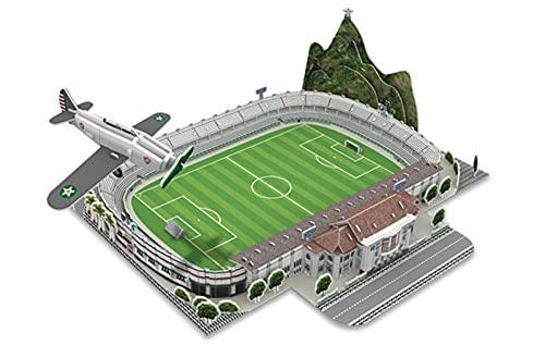 YXST Rompecabezas 3D del Estadio,Kit De Manualidades DIY DiseñO De Campo De FúTbol,Juego De Rompecabezas Hecho A Mano para Adultos FanáTico del FúTbol De Recuerdo