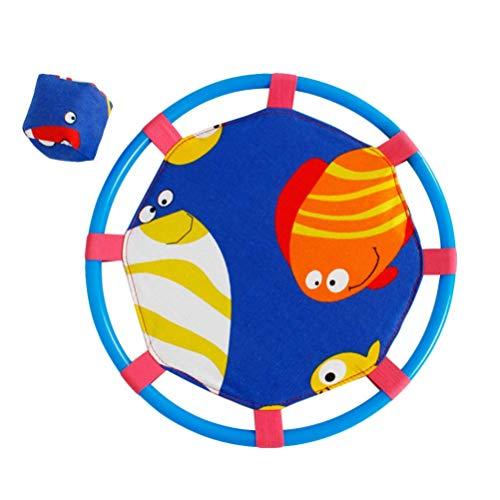 ADSE Catch and Toss-Spiel Sandsack Soft Flying Dics Hinterhofspiele Sportparty Gunst für Kinder und Erwachsene (rot)