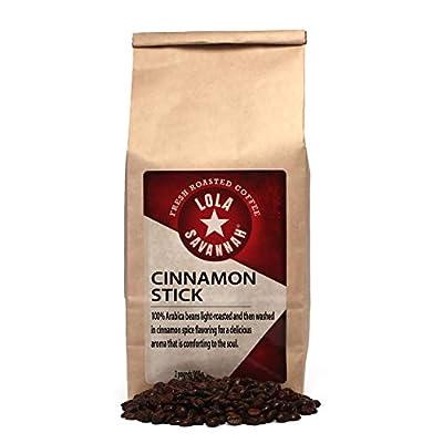 Lola Savannah Cinnamon Stick Whole Bean Coffee - Cinnamon Spice Flavored Coffee   Delicious Aroma   Caffeinated   2lb Bag