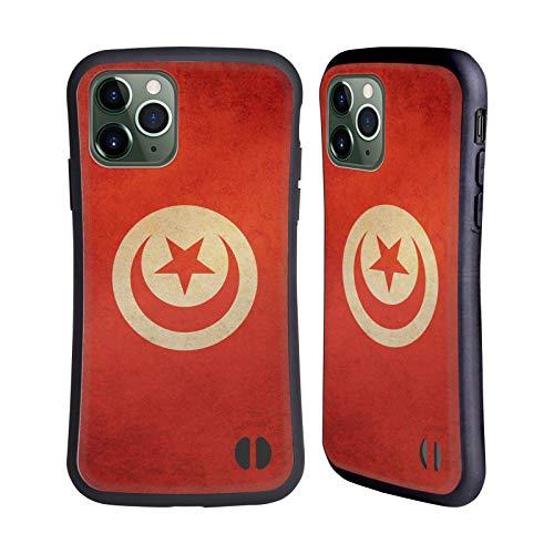 Head Case Designs Tunisia Tunesisch Vintage Fahnen 6 Hybride Handyhülle Hülle Huelle kompatibel mit Apple iPhone 11 Pro