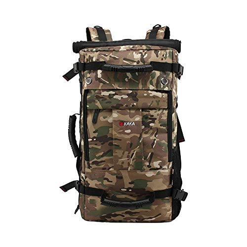 MANNUOSI Casual Daypacks Men Oxford Fashion High Capacity Rucksack Waterproof Multifunction Hiking Backpack Unisex Camouflage
