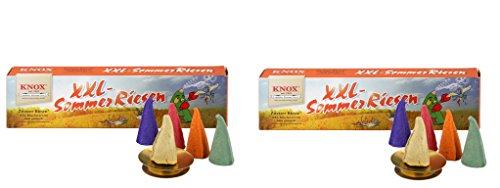 Knox XXL Räucherkerzen Riesen Sommer und Weihnachten - Made in Germany (Sommer 2er)