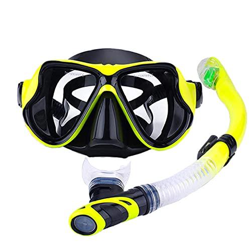 ZASX Máscara de Snorkel,Máscara de Buceo con Tubo de respiración para Adultos,Máscara de Buceo antivaho, Gafas de Buceo, Gafas de natación-Unisex