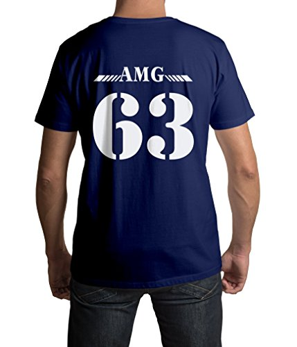 Mercedes E63 AMG Herren T-Shirt -AMG 63- Drift Motorsport Tuning Street WEAR Old School S-5XL (XL, Marinenblau)