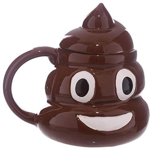 Emoji-Kaffeetasse, 3D-Keramik-Tasse, Kackhaufen, Faust, Grinsendes Gesicht, Trinkbecher mit Wirbel-Deckel, lustiges Gag Geschenk, Caneca, A