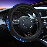 PNNUO Dragon Blue Fire Steering Wheel Cover-Car Steering Wheel Cover 15 Inch,Non-Slip Environmental Protection Universal