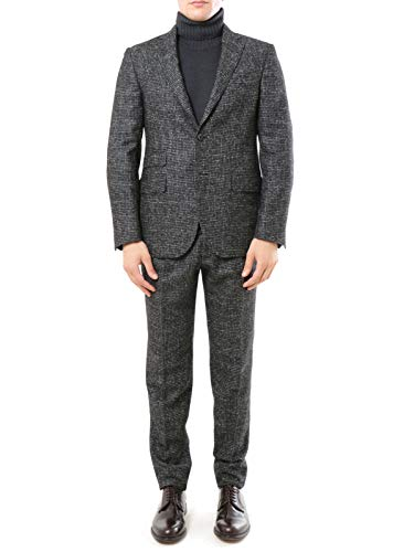 THE GIGI Mod. DEGAS251B-L254 Anzug Zwei Knöpfen Herren Anthrazit 54