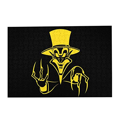 """JIECARKO Insane Clown Posse The Ringmaster Full 300 Large Pieces Jigsaw Puzzle for Adults and Kids Wooden Puzzle for Decompressing Game Colorful Toys Artwork 15.07""""x 10.23"""""""