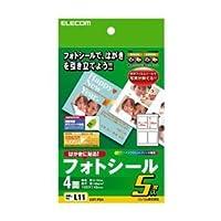 (まとめ)エレコム フォトシ-ル EDT-PS4【×10セット】 ds-1617592