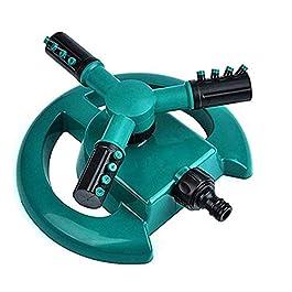Topways® Arroseur automatique de jardin – 360 degrés – 3 bras – Buses rondes rotatives – Système d'arrosage pour pelouse…