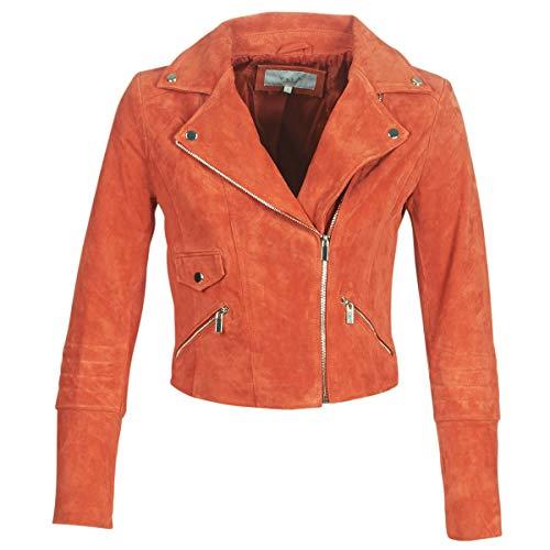 Vila Vijolly Jacken Damen Orange - 36 EU - Lederjacken/Kunstlederjacken Outerwear