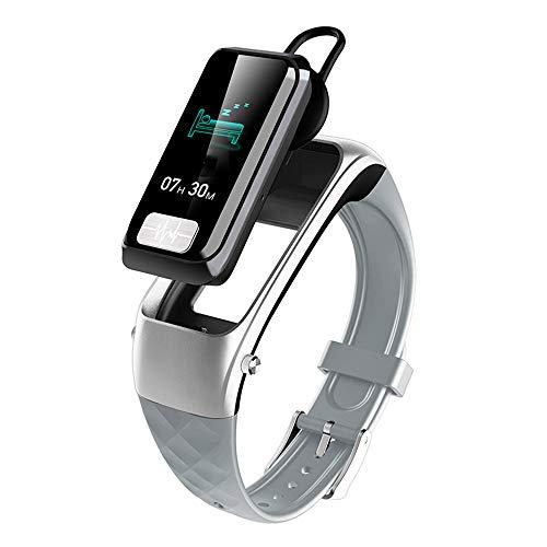 Q&N GPS Smart Watch Casque Bluetooth 5.0 avec Tracker d'activité Étanche Natation Écran Tactile Moniteur de fréquence Cardiaque Trackers Sommeil Montre-Bracelet,Argent