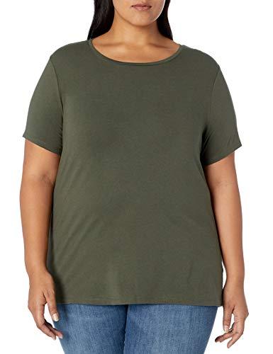 Amazon Essentials Plus Size Short-Sleeve Crewneck T-Shirt Fashion-t-Shirts, Verde Oliva, 1X