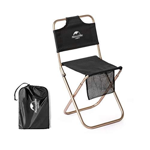 Campingstuhl im Freien Außen Klappstuhl, Ultra-light Bewegliche Im Freien Fischen, Einfache Rücken Camping Skizze Aluminiumlegierung Beach Chair, Helle Holzmaserung Aluminium-Halterung, 46.5X 23.5X 22