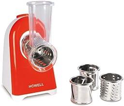 Howell HO. HO.MAF301 Multifonction avec 4 rouleaux en acier, 250 W, rouge, transparent, blanc