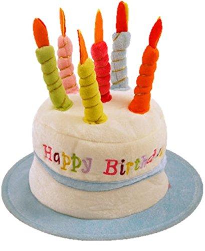 Chapeau pour anniversaire avec bougies 'Happy Birthday' bleu