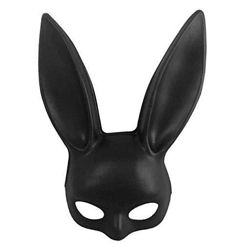 HZK Máscara de Halloween, de Fiesta de Halloween máscara de Conejito Atractivo Barra del Club Nocturno del Partido del Traje oídos de Conejo máscara máscaras del Partido WDDT ( Color : Black Matte )