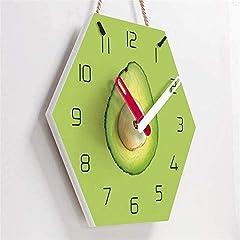 TIANYOU Wall Clock Avocado Bracket Clock Lanyard Clock Acrylic Silent Wall Clock Living Room Bedrooms Kitchen Bracket Clock 14 Inches Clockw #4